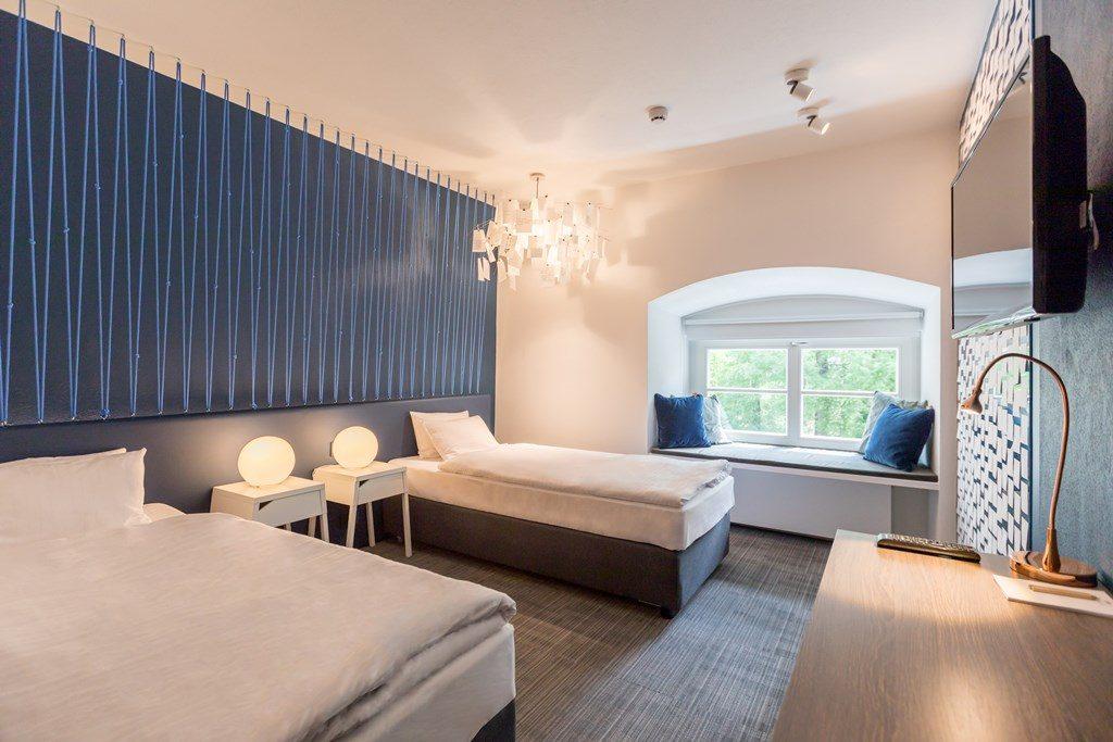 Pokój hotelowy w Pałacu Pakosław