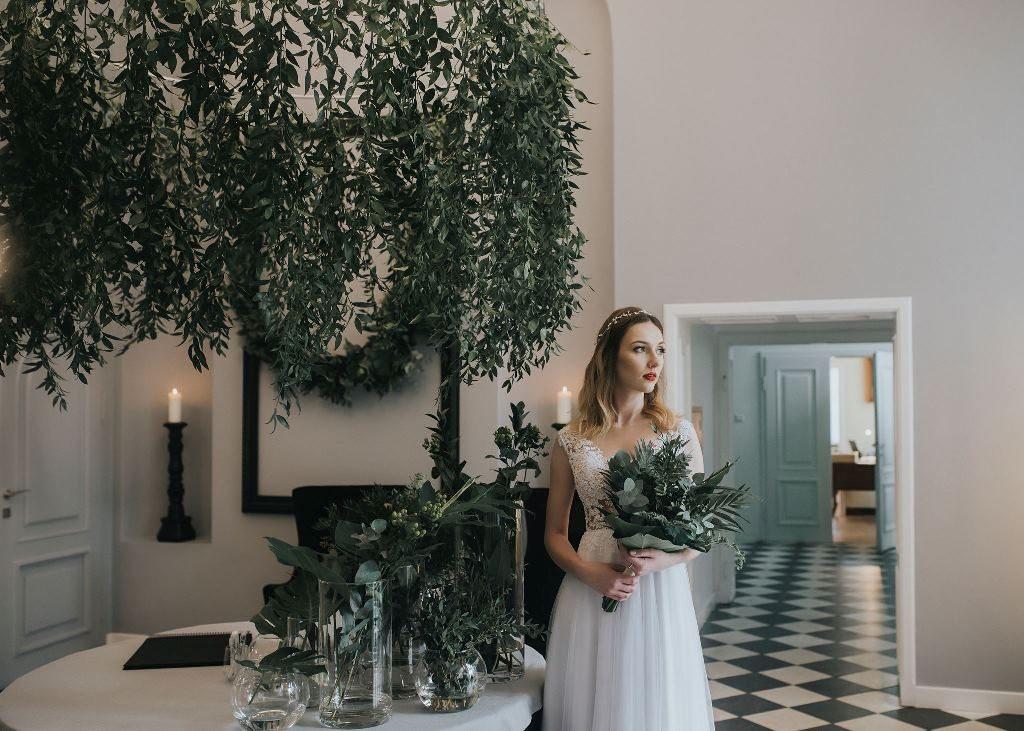 Pałac Pakosław - wejście do sali weselnej