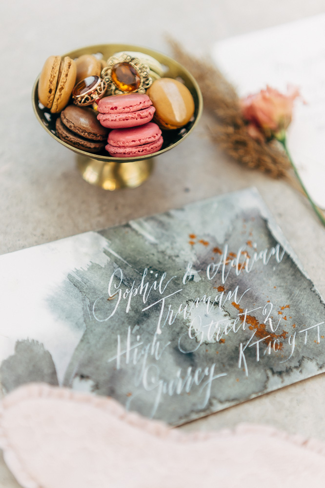 zaproszenie na ślub ręcznie kaligrafowane